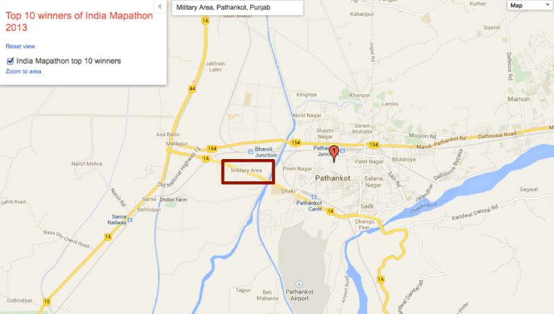 Área militar de Google India
