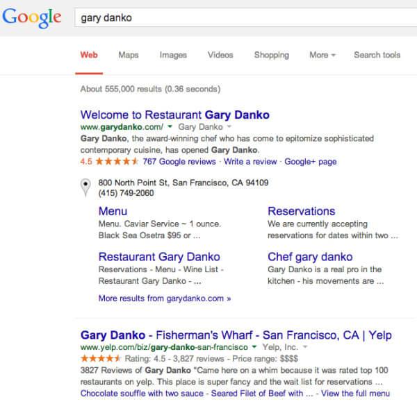 gary danko búsquedas de google