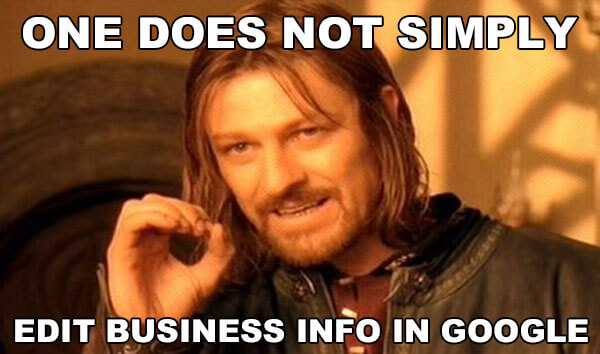 One does not simple edit business info in Google Places