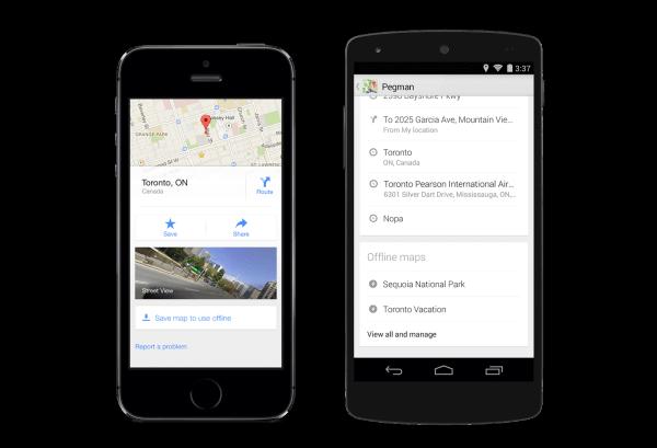Google Maps Guardar mapa para usar sin conexión
