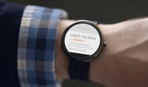 Fichas de empresas locales en Android Wear Smartwatch