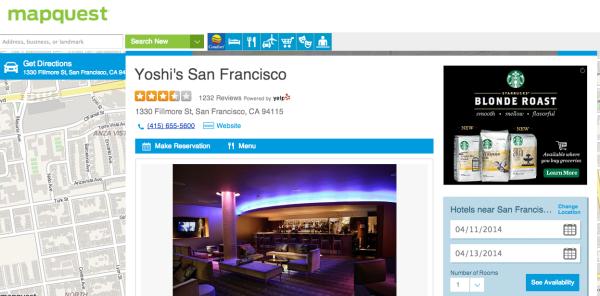 Perfil empresarial de Mapquest