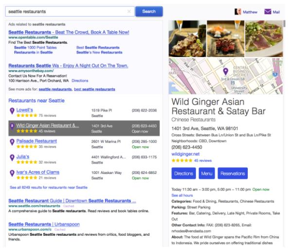 Nuevos resultados de Yahoo Local