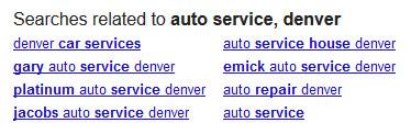 Búsquedas relacionadas en SERP de Google