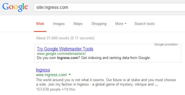 Páginas de ingreso indexadas en los resultados de búsqueda de Google