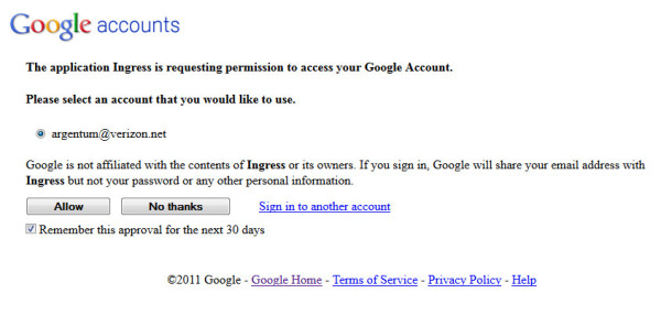La pantalla de entrada transmite incorrectamente que no está afiliada a Google