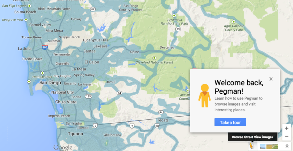 Pegman en Google Maps