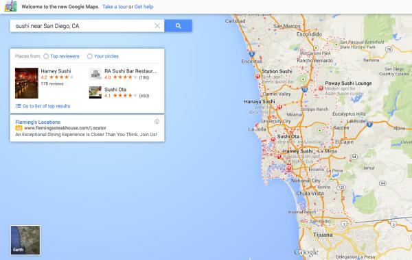 Sushi de Google Maps