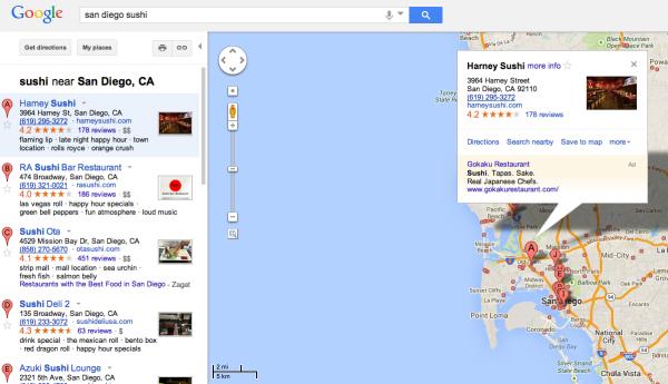 IU antigua de Google Maps