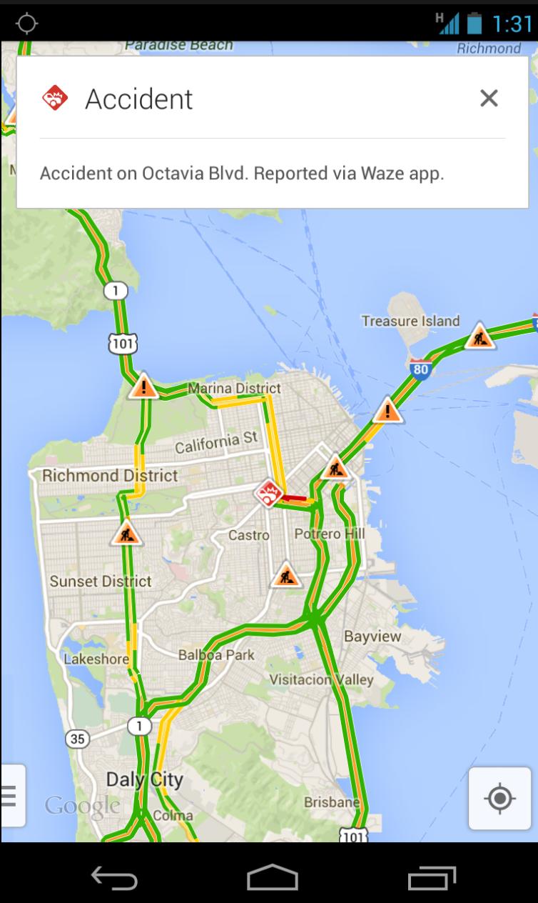 Google Waze Traffic