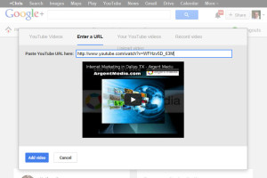 Agregar videos en su página de Google+ Local