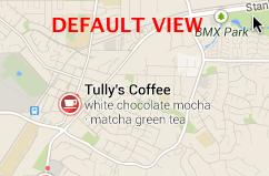Tullys Google Maps predeterminado