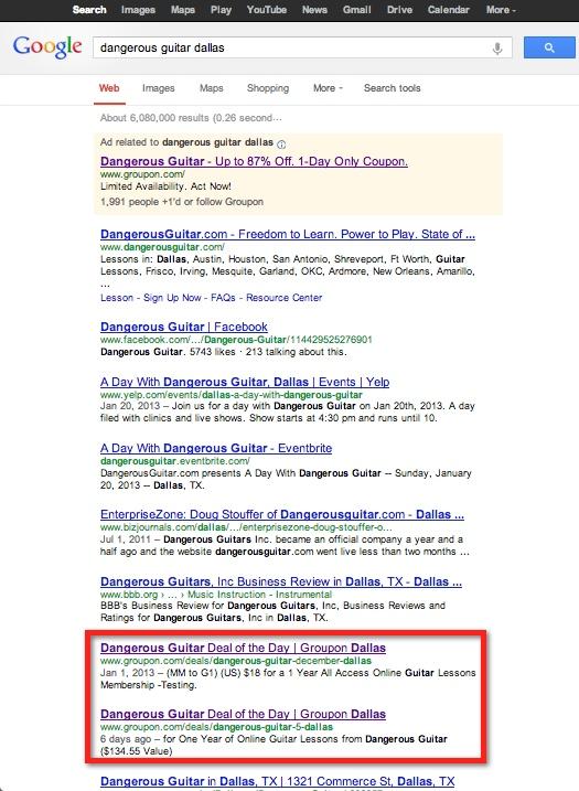 resultados de búsqueda local