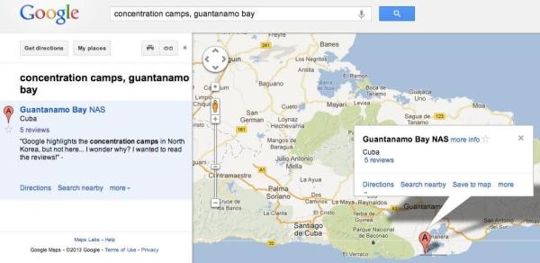 """Mapa del """"campo de concentración"""" de Gitmo"""