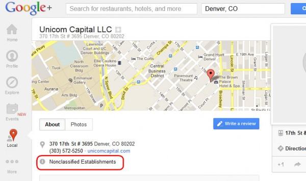 Unicom Capital, una empresa no categorizada en Google Maps, ubicada en Denver, Colorado