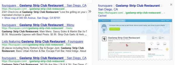 checkins cuadrados con arañazos de Google