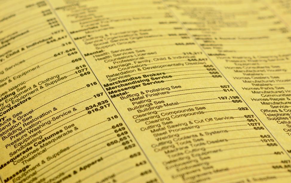Encuesta: Imprima páginas amarillas más confiables que los motores de búsqueda y las redes sociales
