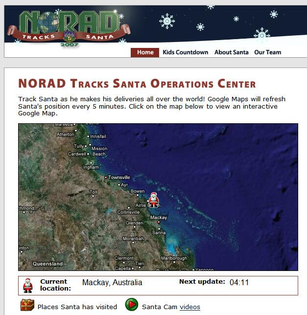 NORAD Tracks Santa 2007