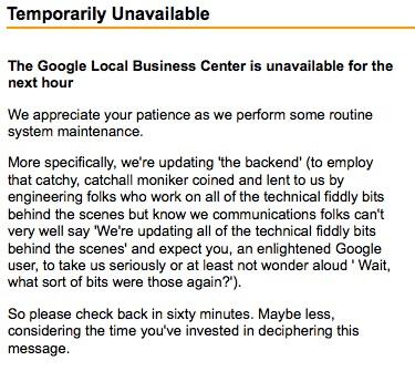 mantenimiento inactivo de google maps