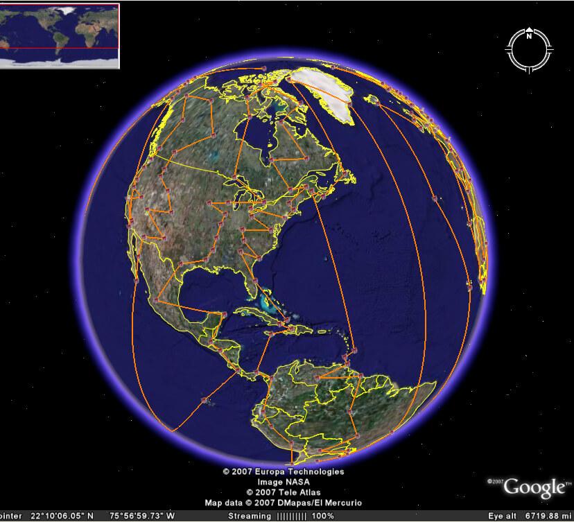 Rastreador de Santa de Google Earth 2007