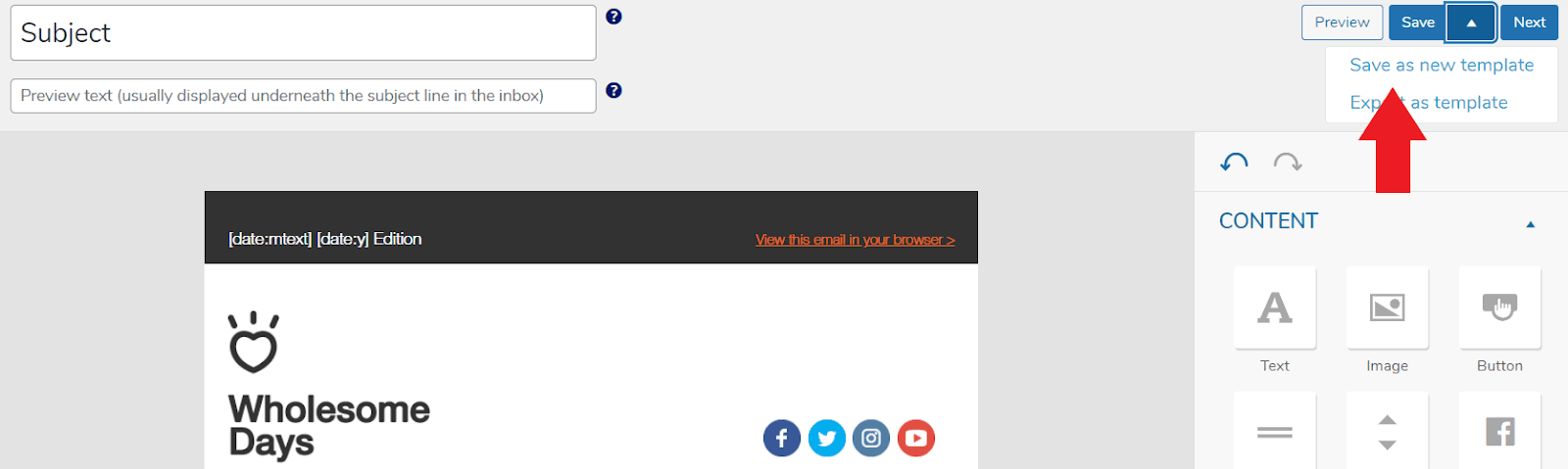 Cómo guardar una plantilla de correo electrónico en MailPoet