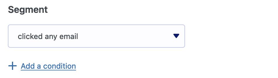 Segmentar haciendo clic en cualquier enlace de correo electrónico en MailPoet