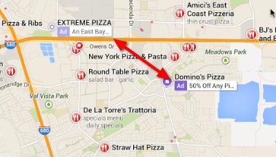 Pleasanton Pizza Google Maps 3