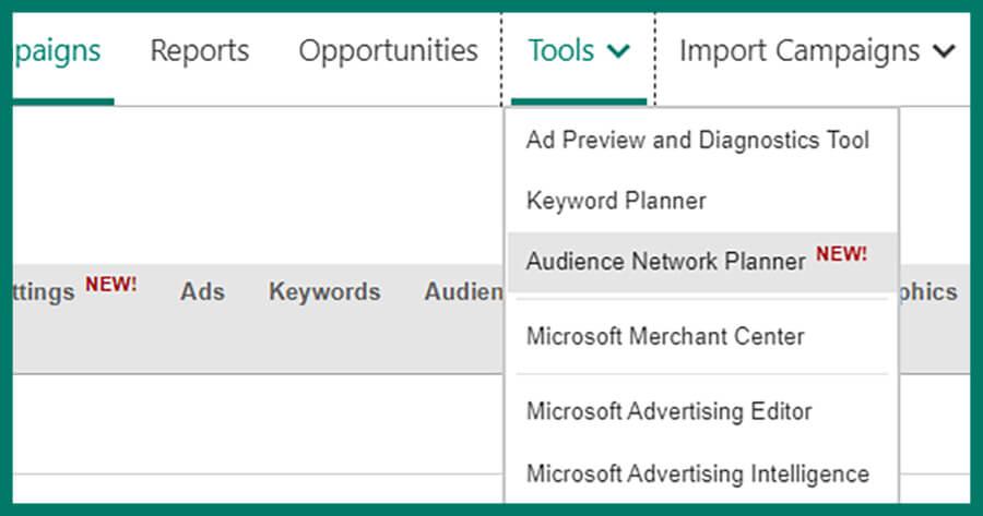 A continuación, le mostramos cómo utilizar el nuevo Planificador de redes de audiencia de Microsoft Ads