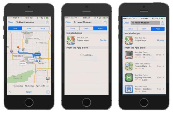 Apple Maps con aplicaciones de terceros