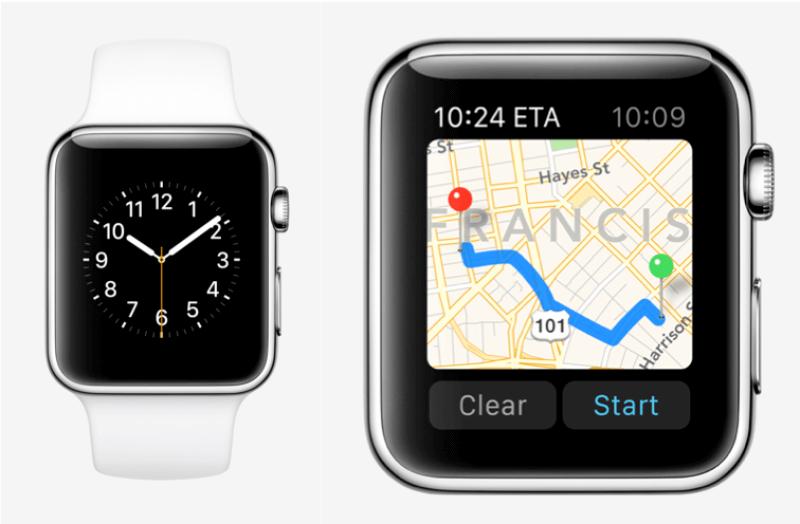 Mapas de Apple Watch