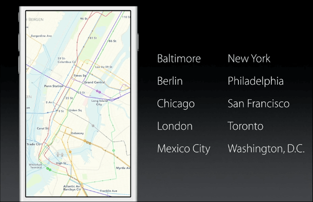 Tránsito de Apple Maps