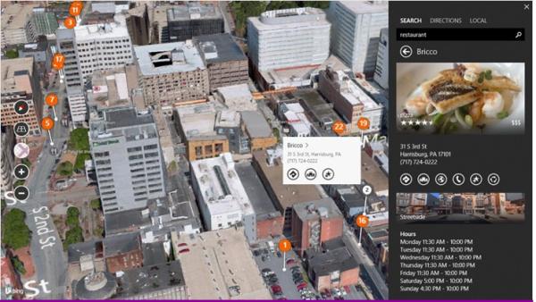 Vista previa de mapas de Bing