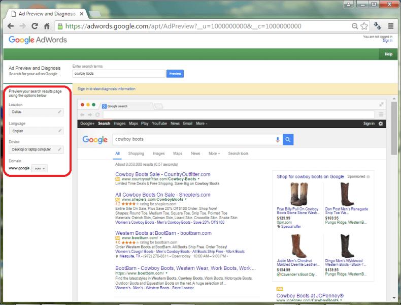 Google AdPreview