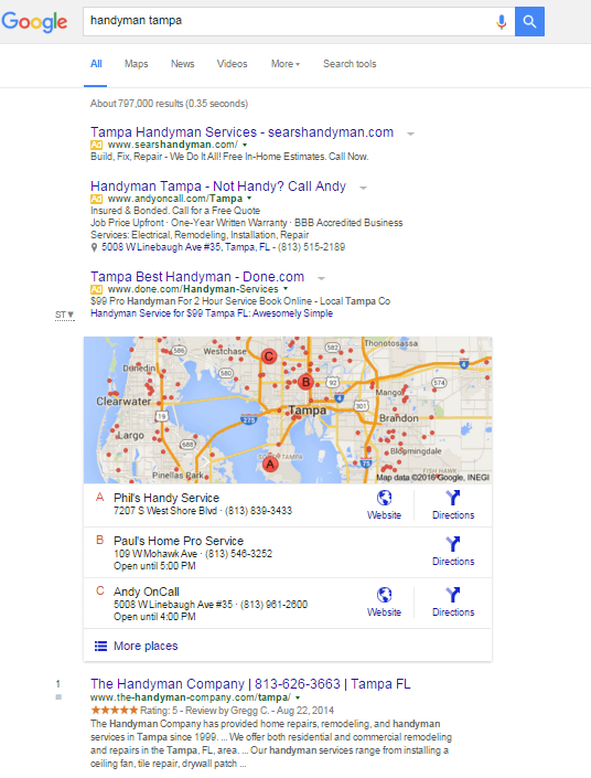 Manitas Tampa - Google