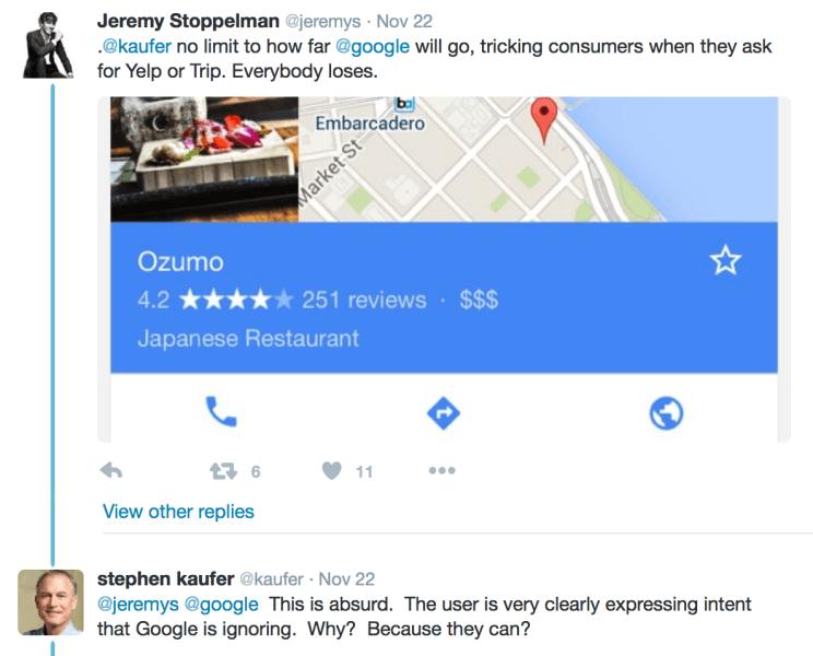 Resultados locales de Twitter en Google