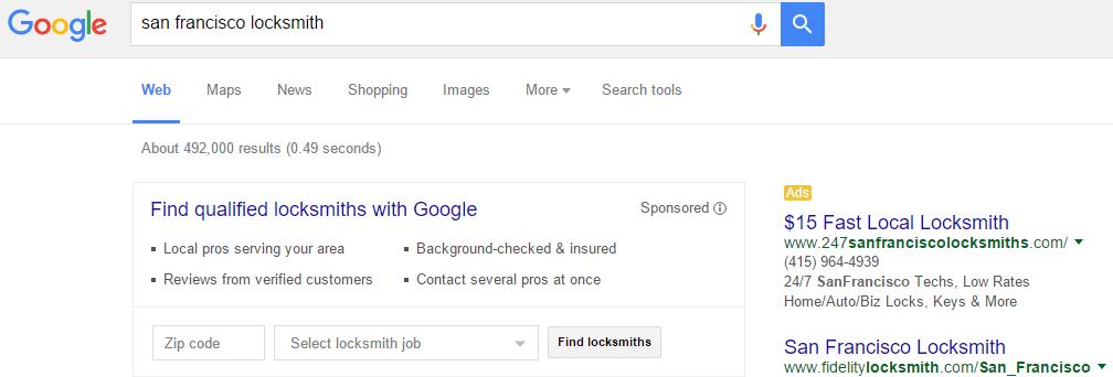 prueba de anuncios de servicios para el hogar de google