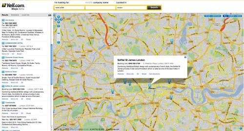 El sitio del Reino Unido Yell.com le da a Google Maps una carrera por su dinero