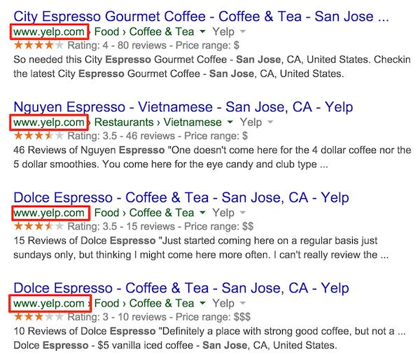 espresso san jose resultados de la búsqueda