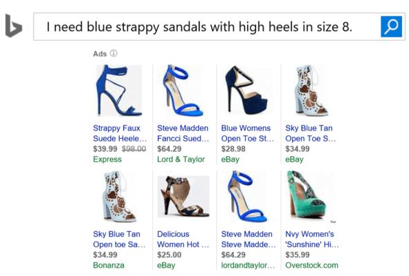 Ejemplos de anuncios de productos para zapatos