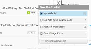 Foursquare agrega funcionalidad de 'listas' para perfiles y páginas
