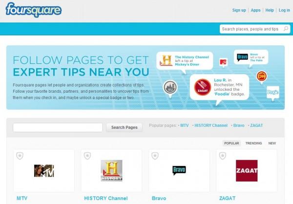 Foursquare lanza páginas de 'autoservicio' para empresas