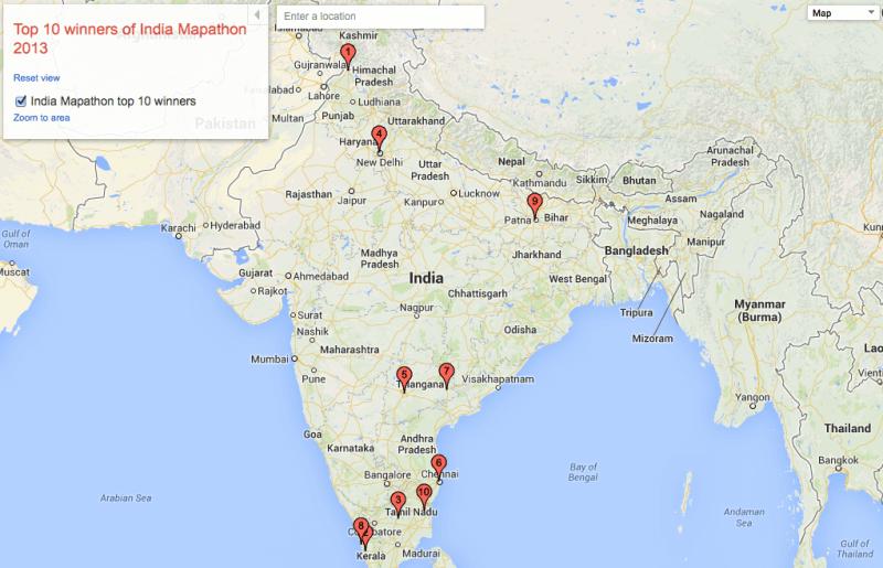 Mapathon de Google India