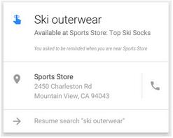 alertas de recordatorio de tienda cercana de Google ahora