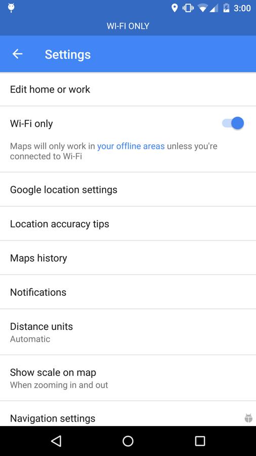 Mapas de Google sin conexión