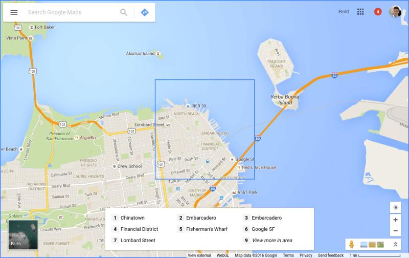 Google Maps accesible desde el teclado