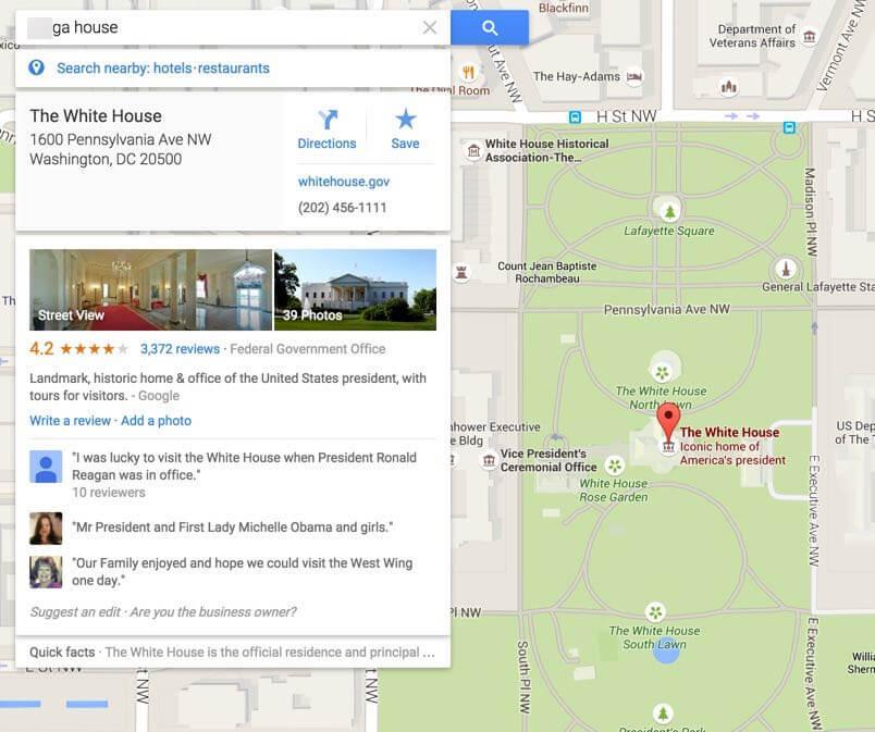 término racista de la casa blanca en google