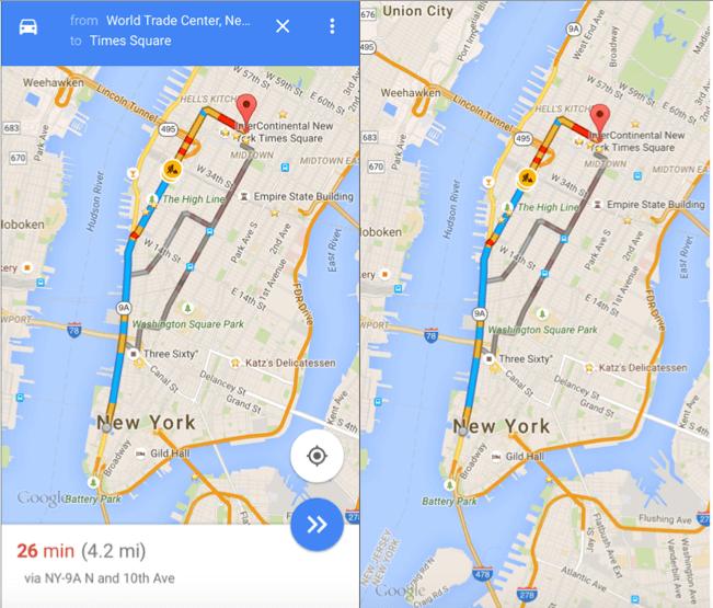 Interfaz de usuario oculta de Google Maps