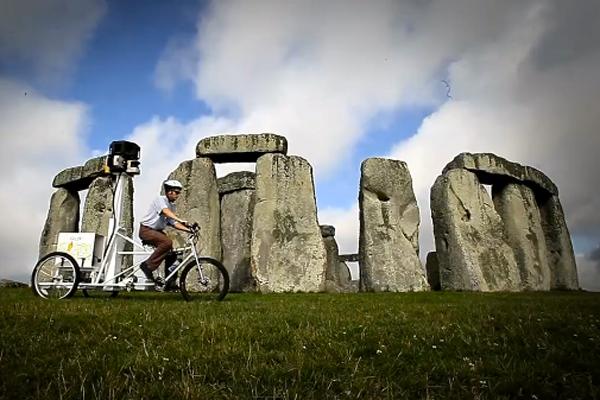 The Google Trike, a bike-based camera system