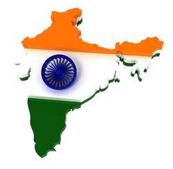 india-flag-map
