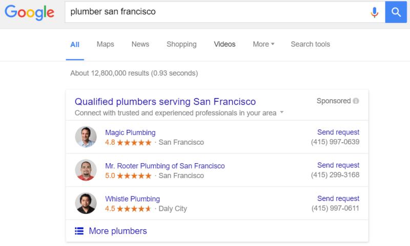 anuncios de servicios para el hogar de google